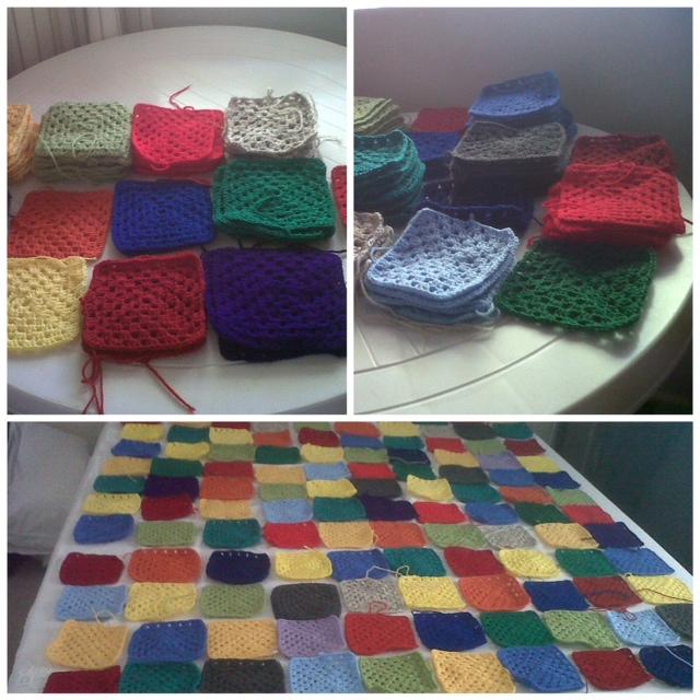 Granny square blankets (1/6)