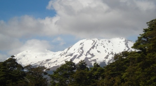 Snow on Mount Ruapehu, New Zealand