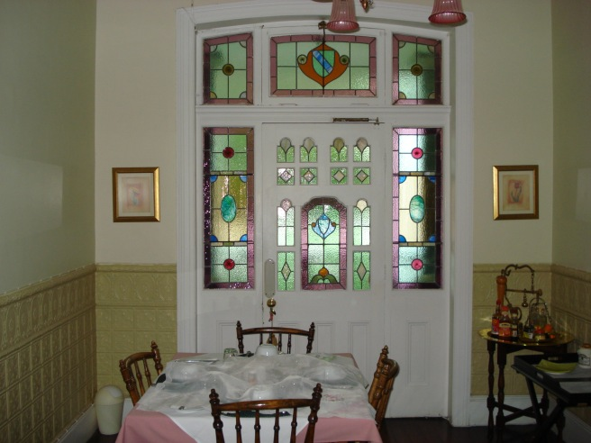 Original stain glass windows in  a old house