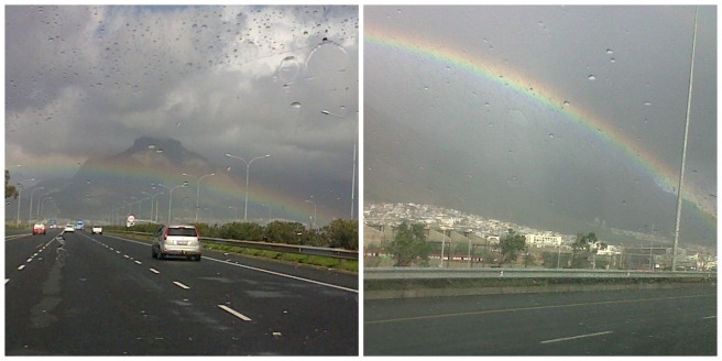Rainbows- Photo's taken on our way to Cape Town