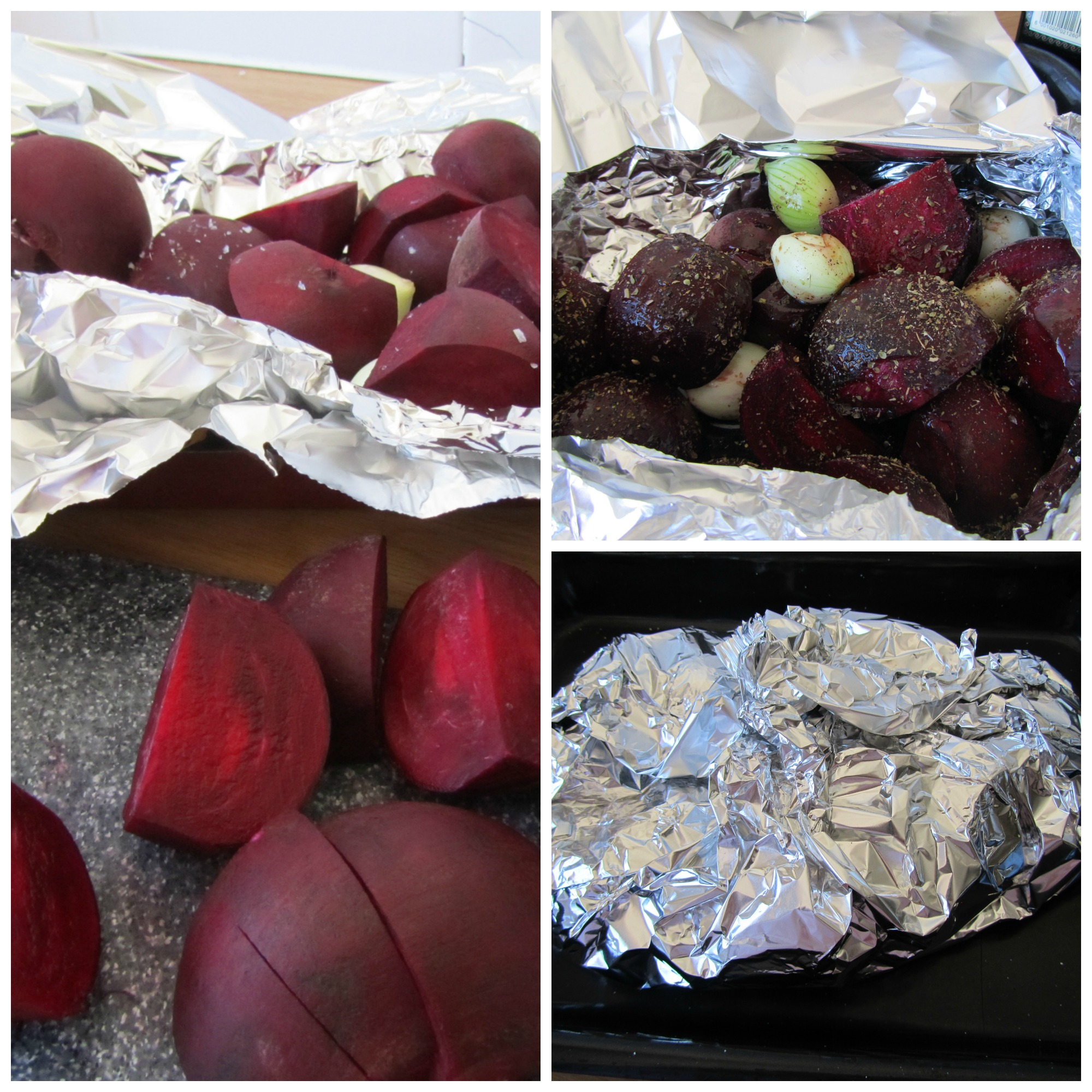 Baked beetroot