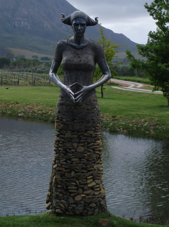 A sculpture at the Saronsberg  wine farm in the Tulbagh area.
