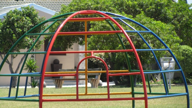 Domed- shape Jungle gym in the park