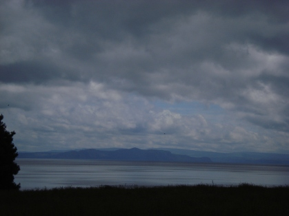 Storm Clouds over Lake Taupo in New Zealand