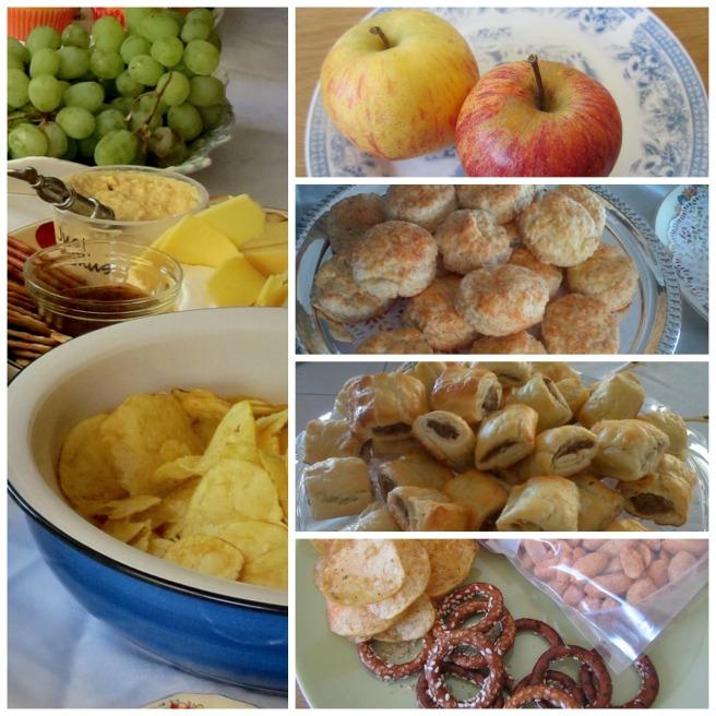 A variety of  snacks