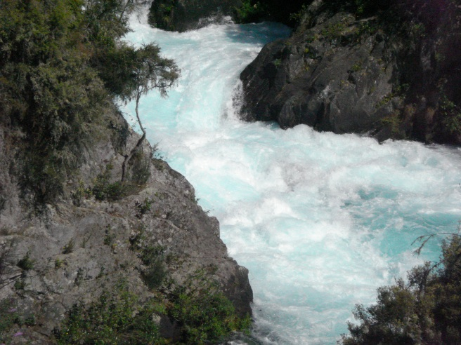 At the Huka Falls, New Zealand