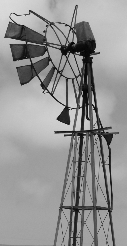 Broken wind pump at Paternoster