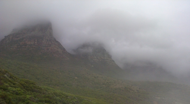 Mist over Table Mountain, Cape Town