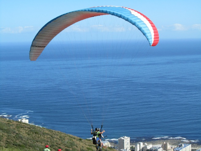 Tandem- paragliding from Signal Hill