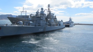 Grey ships - Navy's open day in Simonstown, South Africa
