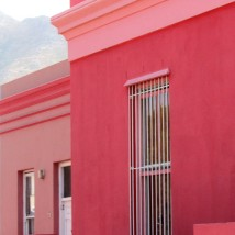 Brightly painted houses in the Bo-Kaap. Cape Town