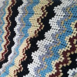 Granny-ripple blanket