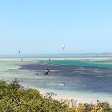 Kite surfing on Langebaan Lagoon