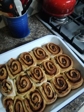 Cinnamon buns, without the topping